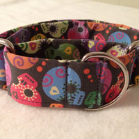 DOTD Skulls Martingale or Quick Release Collar