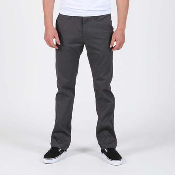 Volcom Frickn Mod Mens Pants Charcoal  In Sizes 33 For Men 79740711003