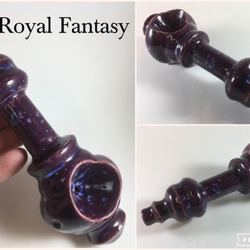 Ceramic Pipe #ASL021 Color: Royal Fantasy