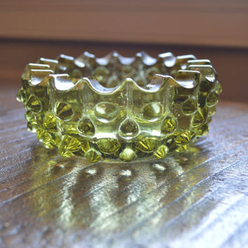 Green Hobnail Ashtray