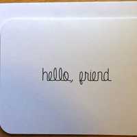 Simple Hello Note Cards Stationery - Minimalist - Set of 10 with Envelopes