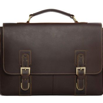 BLUESEBE MEN VINTAGE STYLE LEATHER SATCHEL/MESSENGER BAG 8069