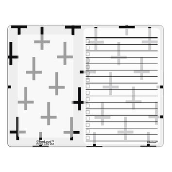 Inverted Crosses To Do Shopping List Dry Erase Board All Over Print