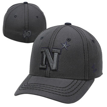 Zephyr Navy Midshipmen Smoke Fitted Hat - Charcoal