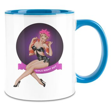 Pin Up Girls Night Out 11oz Ceramic Coffee Mug