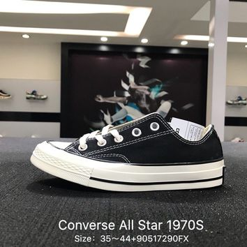 Converse Chuck Taylor All Star 1970s Black White  Low Canvas Shoes