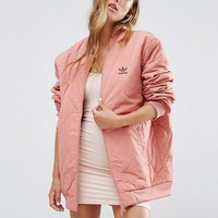 adidas Originals Oversized Quilted Bomber Jacket at asos.com