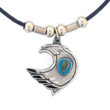 Earth Spirit Necklace - Eagle & Stone