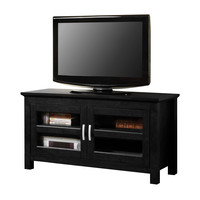 """44"""" Black Wood TV Stand Console"""