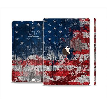 The Grungy American Flag Skin Set for the Apple iPad Air 2
