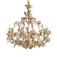 antique 6-lightivory chandelier