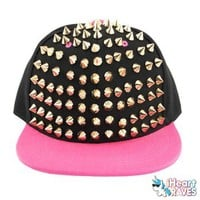 Spiked Snap Back Hat