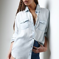 Erin Wasson American Girl Button-Up Shirt - Womens Shirts - Blue