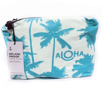 ALOHA Collection Small Pouch - Shaved Ice Blue Coco Palms