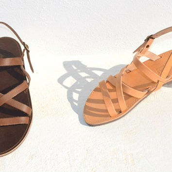 Handmade Roman Grecian leather sandals-NEW STYLE
