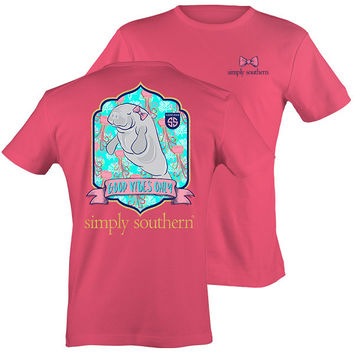 Simply Southern Preppy Good Vibes Manatee T-Shirt