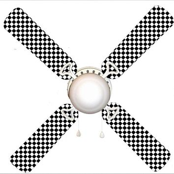 """Checkered Flag Race Car 42"""" Ceiling Fan and Lamp"""