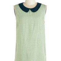 ModCloth Vintage Inspired Mid-length Sleeveless Brunch of Cousins Top
