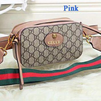 Gotopfashion Gucci Tiger Head Camera Bag Women Waist Bag Shoulder Bag Full Color B-WMXB-PFSH Pink
