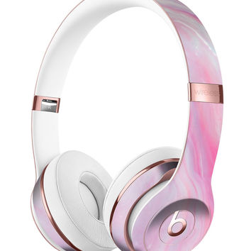 Marbleized Pink Paradise V8 Full-Body Skin Kit for the Beats by Dre Solo 3 Wireless Headphones