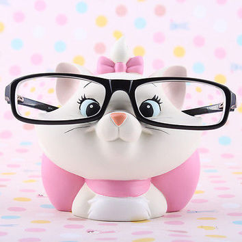 DISNEY MARIE CAT EYE GLASSES SUNGLASSES STAND STATUE
