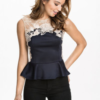 Lace Peplum Top, Ax Paris