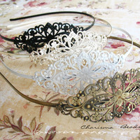 3 Vintage Filigree Antique Brass Bl.. on Luulla
