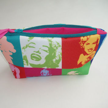 Marilyn Monroe Make Up Bag. Pop Art Brights. Great Gift by olganna
