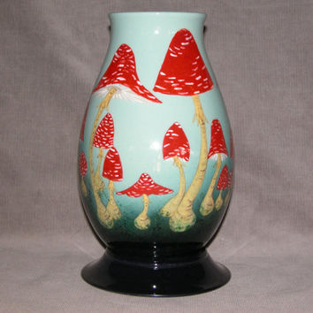 NEW FAIRY RING Tall Medium-Large Fry Agaric Toadstool vase
