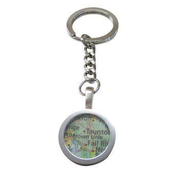 Brown University Map Pendant Keychain