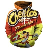 Unisex Flaming Hot Cheetos 3D Hoodie Hoodie