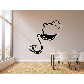 Vinyl Wall Decal Tea Time Shop Cup Ceremony Teapot Stickers Mural (g1799)