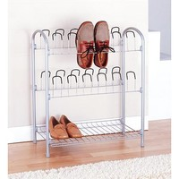 Neu Home 12 Pair Shoe Rack w/ Bottom Shelf - Walmart.com