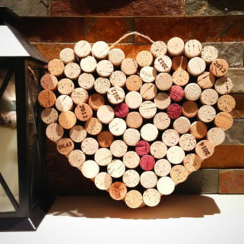 Wine Cork Heart; Wedding Decor; Housewarming Gift; Bridal Shower Gift