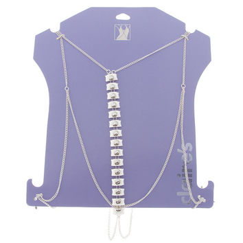 Silver Rectangles Body Chain