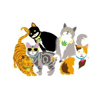 enjoi Cat Stickers 10 pk