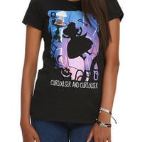 Disney Alice In Wonderland Curiouser And Curiourser Silhouette Girls T-Shirt