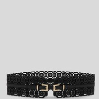 REISS Belt - Connie Wide Laser Cut