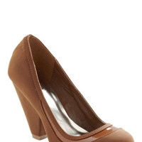 It's Never Too Latte Heel | Mod Retro Vintage Heels | ModCloth.com