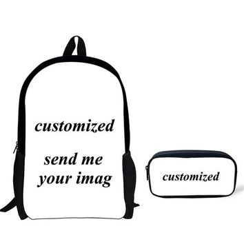 Cool Backpack school FORUDESIGNS School Bags for Teenager Girls Boys War Horse Printing Kids Vintage School Bag Primary School Boy Cool Schoolbag Set AT_52_3