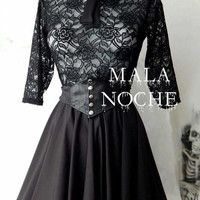 Ramona dress,  Goth dress,  lace  dress,  witch top,  gothic,  victorian dress,  occult,  witchy,  bdsm, alternative,  dark clothing,  Bow