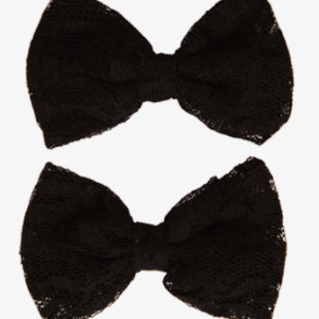 Lace Bow Hair Clips | FOREVER 21 - 1034660425