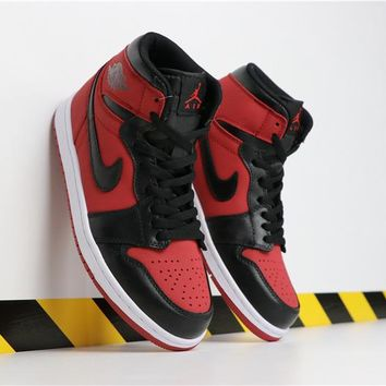 "Air Jordan 1 Mid ""Bred"" AJ1 Retro - Best Deal Online"