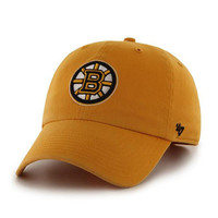 Boston Bruins - Logo Clean Up Gold Adjustable Baseball Cap