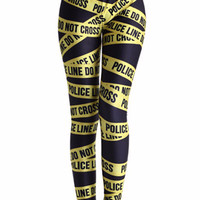 Letters Digital Print Leggings