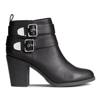 Ankle Boots with Metal Buckles - from H&M