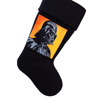 Darth Vader Stocking, Darth Vader Christmas Stocking, Star Wars Christmas, Star Wars Stocking