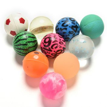 Outdoor Toys Kids Sport Games Elastic Juggling Balls Children Toy Ball Colored Boy Bouncing Ball Rubber 10 Pcs