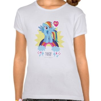 Personalized Rainbow Dash T-Shirt