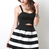 Cutout Lower Stripe Dress